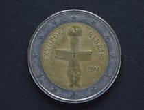 vektor för upplösning för tillgänglig euro för mynt 2 hög mycket Arkivfoton
