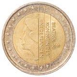 vektor för upplösning för tillgänglig euro för mynt 2 hög mycket Royaltyfri Bild