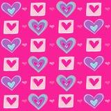 vektor för upprepning för hjärtaillustrationmodell seamless vektor illustrationer