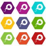 Vektor för uppsättning 9 för befruktningäggsymboler royaltyfri illustrationer
