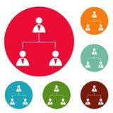 Vektor för uppsättning för cirkel för affärsstruktursymboler royaltyfri illustrationer