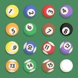 Vektor för uppsättning för Billiardboll Royaltyfria Foton