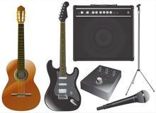 vektor för utrustninggitarrmusik vektor illustrationer