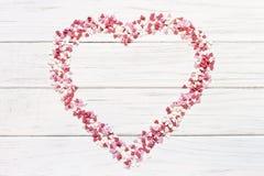 vektor för valentin för form för modell s för hjärta för gåva för ram för kortdagdesign seamless Arkivbild