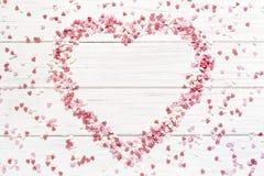 vektor för valentin för form för modell s för hjärta för gåva för ram för kortdagdesign seamless Royaltyfria Bilder