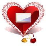 vektor för valentin för kortdaghälsning s Royaltyfri Fotografi