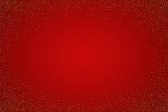 vektor för valentin för ferie mogen s för bakgrundsCherrydag Guld- blänka på röd lutningbakgrund vektor illustrationer