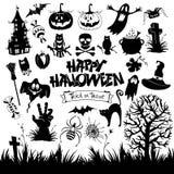 vektor för vampyr för sorceress för grym halloween illustrationreaper set stock illustrationer