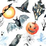 vektor för vampyr för sorceress för grym halloween illustrationreaper set Royaltyfri Bild
