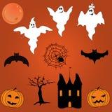 vektor för vampyr för sorceress för grym halloween illustrationreaper set Arkivfoto