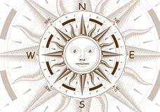 Vektor för vindroskompass Arkivbilder