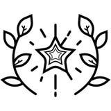 Vektor för vinnarekranssymbol vektor illustrationer