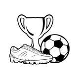 Vektor för vit för skofotbollsvart royaltyfri illustrationer