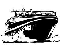 Vektor för yachtvektoreps, Eps, logo, symbol, konturillustration vid crafteroks för olikt bruk r vektor illustrationer