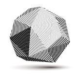 Vektor försvårat 3d diagram, modern stil fo för digital teknologi Royaltyfri Bild