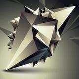Vektor försvårat 3d diagram, modern stil fo för digital teknologi Arkivbilder