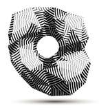 Vektor försvårat 3d diagram, modern stil fo för digital teknologi Royaltyfri Fotografi