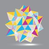Vektor försvårat 3d diagram, modern stil fo för digital teknologi Arkivfoton