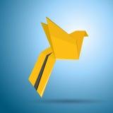 vektor för fågelflygorigami Arkivfoto