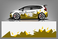 Vektor f?r design f?r sjal f?r dekal f?r sportbil Grafiskt abstrakt band som springer bakgrundssatsdesigner f?r medel stock illustrationer