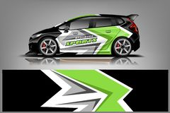 Vektor f?r design f?r sjal f?r dekal f?r sportbil Grafiskt abstrakt band som springer bakgrundssatsdesigner f?r medel royaltyfri illustrationer