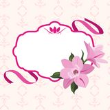 Vektor f?r magnoliablommaram arkivfoton