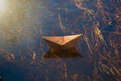 vektor f?r plan f?r papper f?r origami f?r fartygorienteringstillverkning royaltyfri fotografi