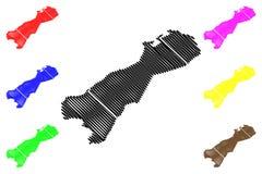 Vektor f?r ?versikt f?r LaGuajira avdelning stock illustrationer