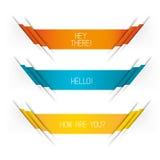 Vektor-Fahnen-Entwürfe Stockbild