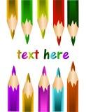 Vektor farbige Bleistifte Lizenzfreie Stockfotografie