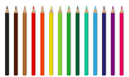 Vektor farbige hölzerne Bleistifte Stockfotografie
