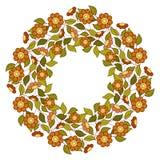 Vektor farbiger Blumenhintergrund Stockfoto