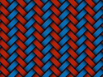 Vektor farbiges gesponnenes nahtloses Muster der Faser lizenzfreie abbildung
