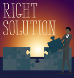 Vektor-flache Geschäfts-Konzept-Recht-Lösung Stockbilder