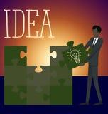 Vektor-flache Geschäfts-Konzept-Recht-Lösung Stockfotos