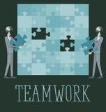 Vektor-flache Geschäfts-Konzept-Teamwork Lizenzfreie Stockfotos