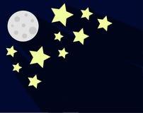 Vektor-flache Ikone des nächtlichen Himmels Lizenzfreie Stockbilder