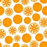 Vektor-flaches Frucht-Muster der gelegentlichen Orange vektor abbildung