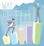 Vektor-flaches Geschäfts-Konzept Stockfoto
