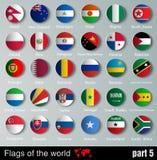 Vektor-Flaggen aller Länder Stockfotos