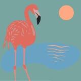 Vektor-Flamingo Lizenzfreies Stockbild