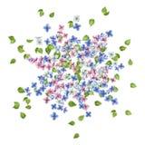 Vektor-Fliegen-Blumen Stockfotografie