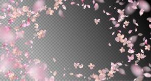 Vektor-Fliegen-Blumenblätter Lizenzfreies Stockbild