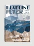 Vektor-Flieger-Schablone mit Aquarell entziehen Sie Hintergrund Stockfoto