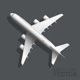 Vektor-Flugzeug-Draufsicht Lizenzfreie Stockfotografie