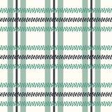 Vektor-Folklore-Plaid mit Singrün auf hellem nahtlosem Musterhintergrund stock abbildung