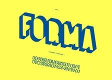 Vektor forma 3d moderne Typografie mutigen Gusses Stock Abbildung