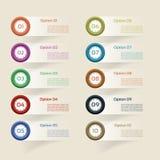 Vektor-Fortschritt Hintergrund/Produktauswahl oder Ver Lizenzfreie Stockbilder