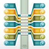 Vektor-Fortschritts-Hintergrund Stockfotos
