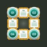 Vektor-Fortschritts-Hintergrund/Produktauswahl oder Version Lizenzfreie Stockbilder